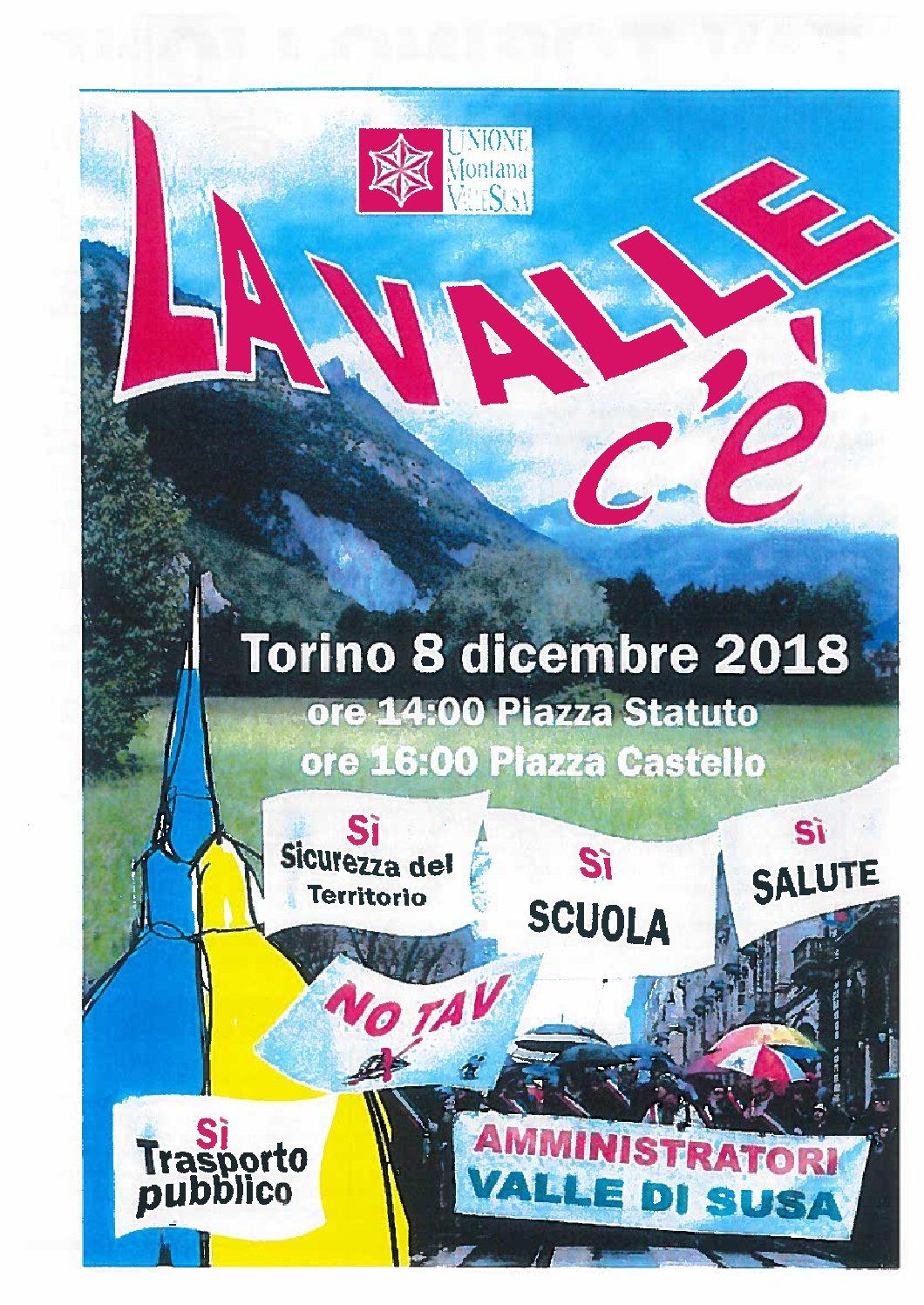08 DICEMBRE 2018: A TORINO, SEMPRE NO TAV